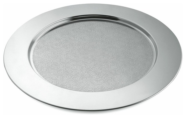 """Alessi """"Disco Cesellato"""" Round Tray contemporary-serving-dishes-and-platters"""