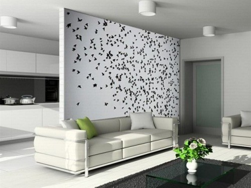 Bird wall decal living room wall decoration modern for Birdcage bedroom ideas