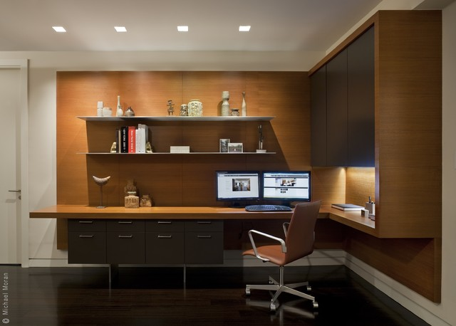 Contemporary Home Office Design Ideas: 57th Street Residence