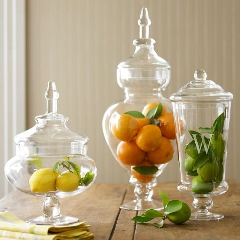 Monogrammed Apothecary Jars traditional-bathroom-canisters