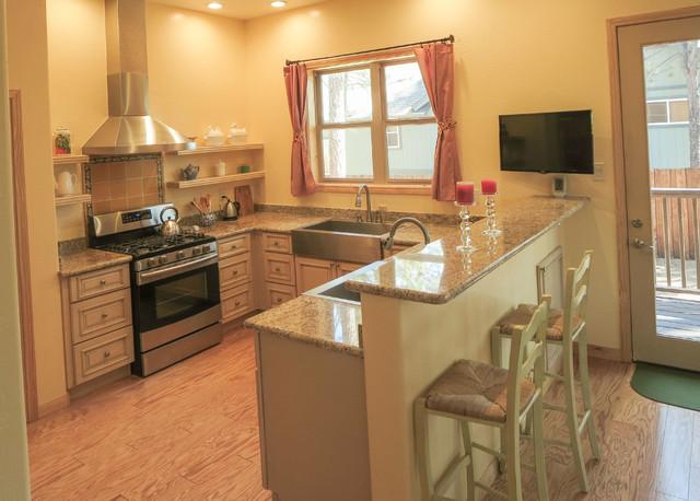 Tuscany White Kitchen Remodel - Mediterranean - Kitchen ...