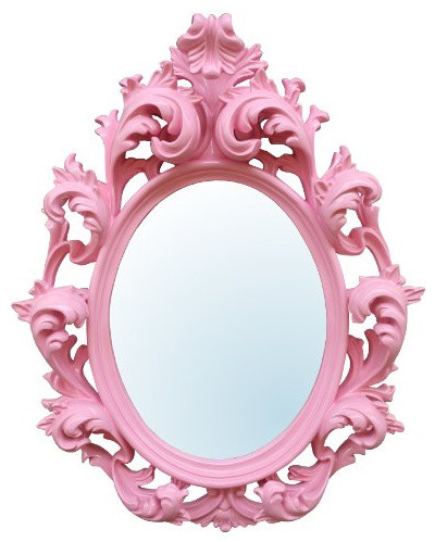 Pink Decorative Wall Mirror traditional-wall-mirrors