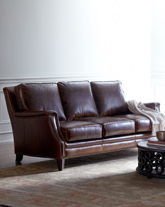 Godfrey Leather Sofa traditional sofas