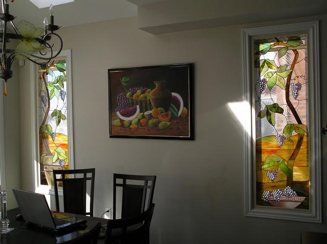 Interior Tiffany Style stained glass deco mediterranean-windows