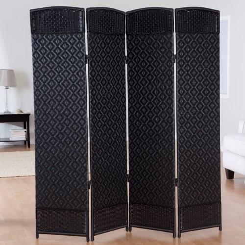 outdoor indoor woven resin 4 panel room divider