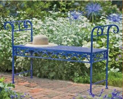 Wrenwood Bench traditional-outdoor-stools-and-benches