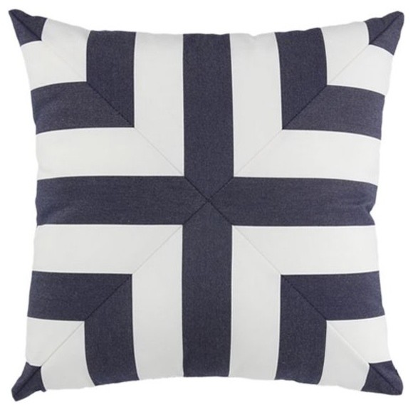 Elaine Smith Yachting Mitered Cross Pillow modern-outdoor-pillows