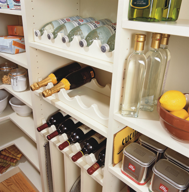 Pantry Bottle Storage - Traditional - new york - by transFORM | The Art of Custom Storage