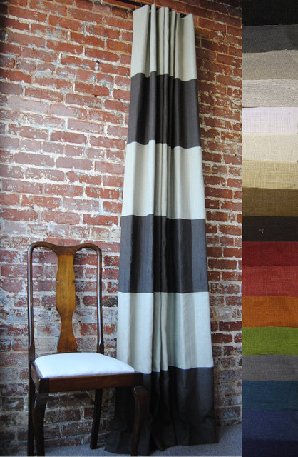 Pick Your Colors Striped Drapery Panel by Martha & Ash contemporary-curtains