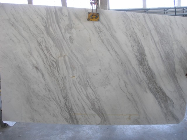 Olympus White Standard Marble Eclectic Kitchen