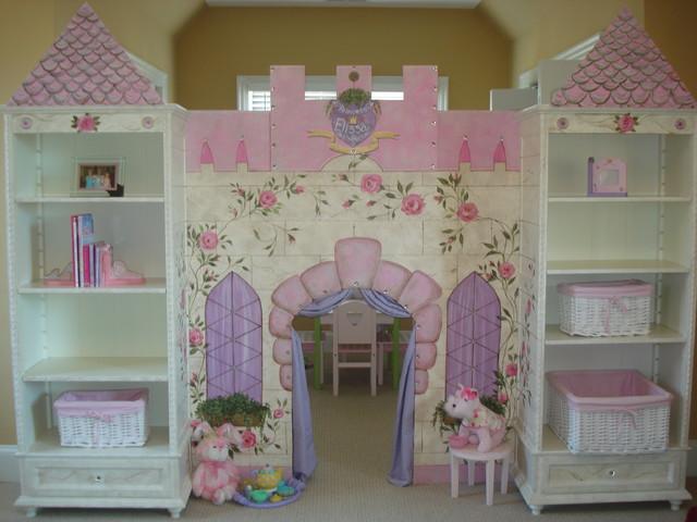 Custom Built Castle Playhouse Traditional Artwork