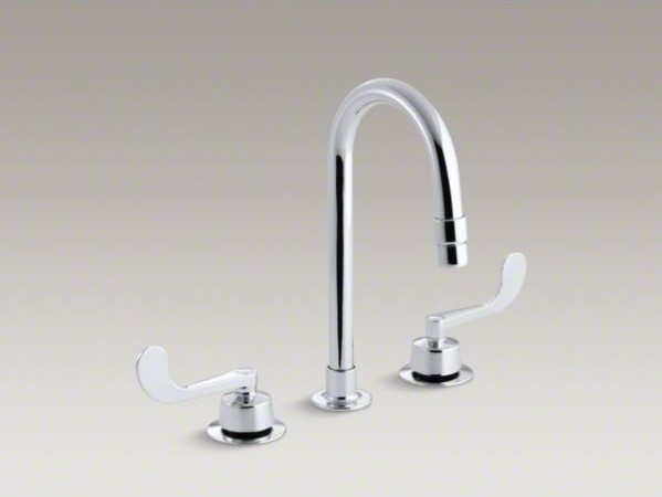 KOHLER Triton(R) widespread commercial bathroom sink faucet with gooseneck spout contemporary-bathroom-faucets-and-showerheads