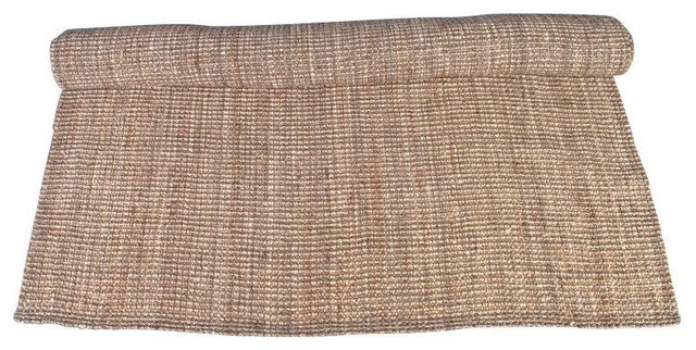 SOLD OUT!   Like New Woven Boucle Jute Rug 6' x 8' - $500 Est. Retail - $150 on beach-style-rugs