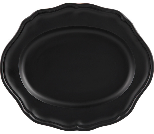 Portrait Black Platter contemporary-serving-dishes-and-platters