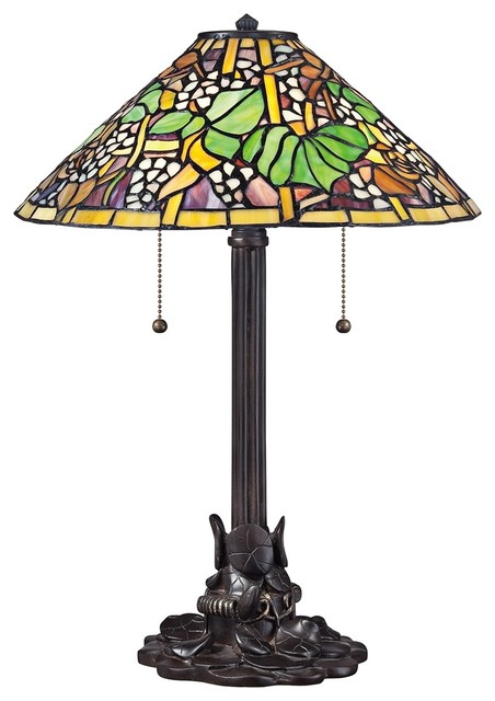Tiffany Quoizel Tropical Tiffany Style Table Lamp traditional-table-lamps