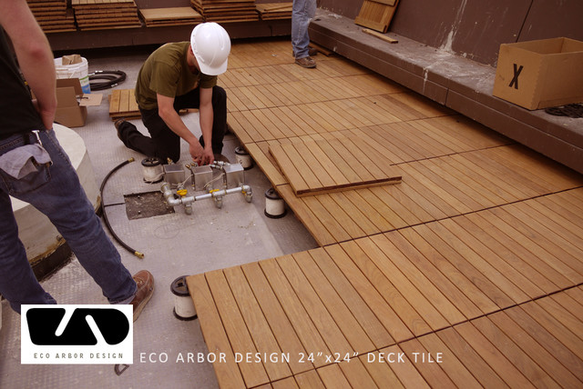 Hotel Decking With Eco Decks Ipe Deck Tiles Modern
