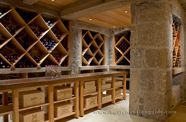 Wine Cellar built by Kenneth Vona Construction traditional
