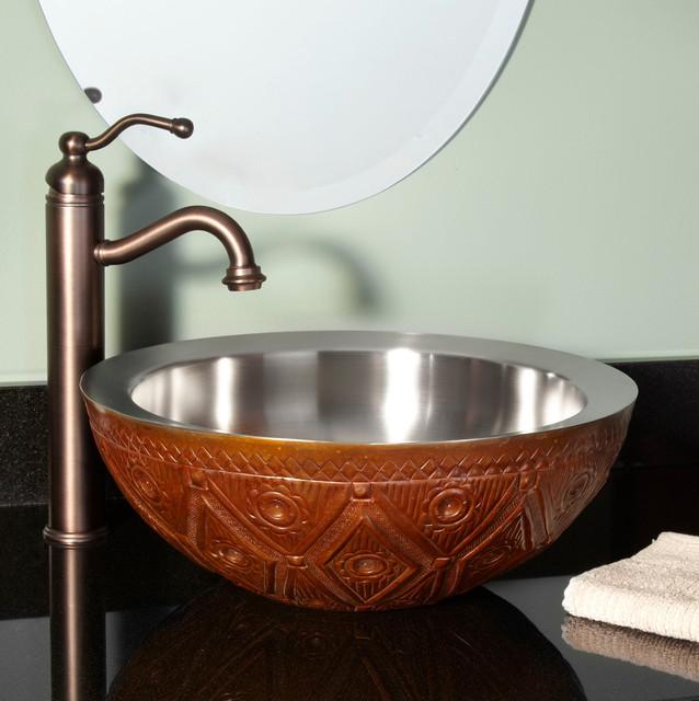 copper vessel sink eclectic bathroom sinks