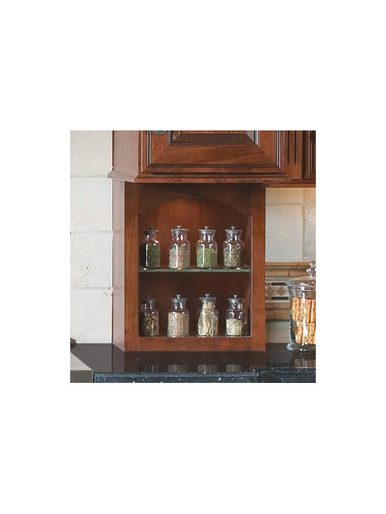 Under-Cabinet Open Storage - If you prefer to keep your favorite oils, vinegars and spice containers close at hand, Under-Cabinet Open Storage lets you arrange them as a kind of living exhibit.