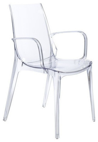Vanity Arm Chair Clear Set of 2 Contemporary Outdoor