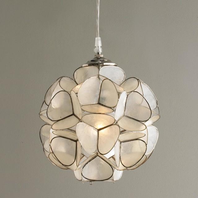 capiz shell flower pendant light pendant lighting by. Black Bedroom Furniture Sets. Home Design Ideas