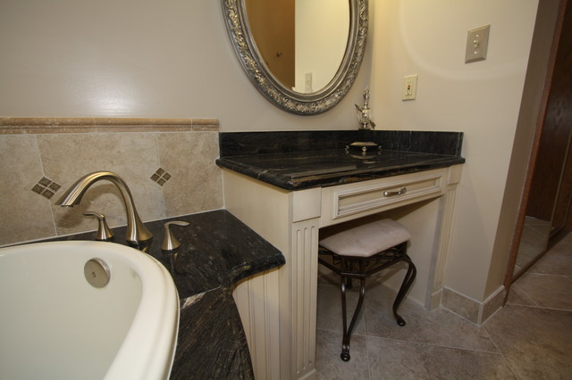 Built In Makeup Vanity Traditional Bathroom Cleveland By Architectura