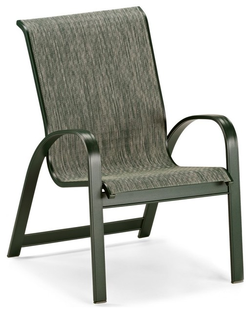 Telescope Casual Primera Sling Stackable Aluminum Dining Chair modern-outdoor-chairs