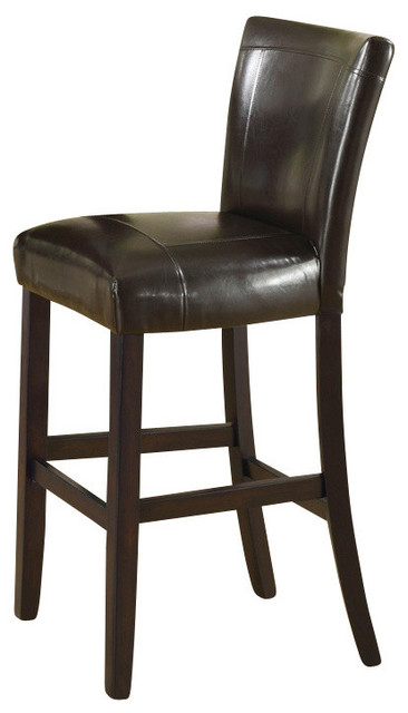 Monarch Specialties 43 Inch Barstool in Dark Brown (Set of 2) contemporary-bar-stools-and-counter-stools