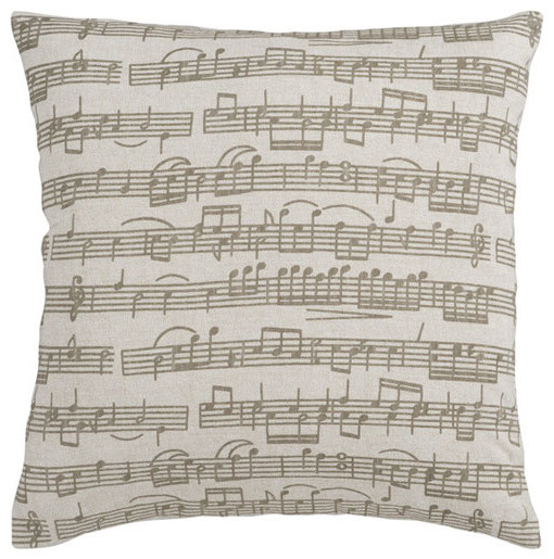 Music Score 18 x 18 Pillow - modern - bed pillows and pillowcases
