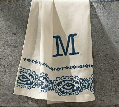 Lori Paisley Embroidered Guest Towel Set Of 2 Blue