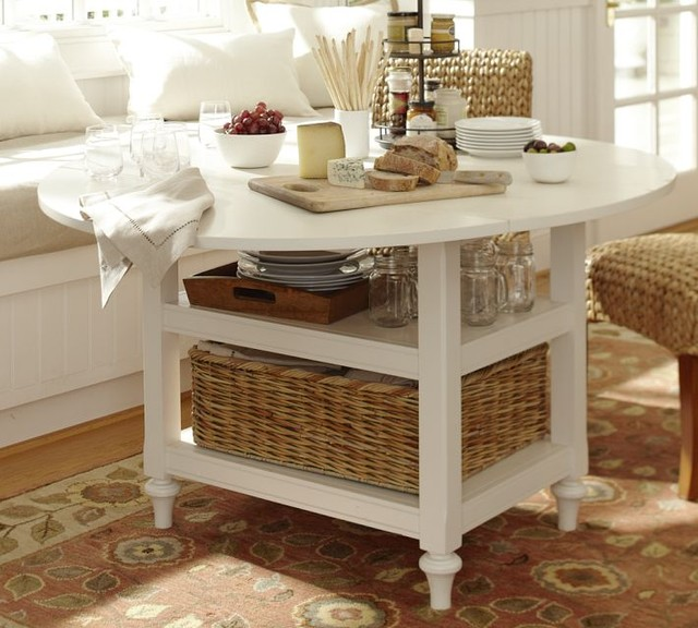 Pottery barn shayne drop leaf kitchen table in antique white - Shayne kitchen table ...
