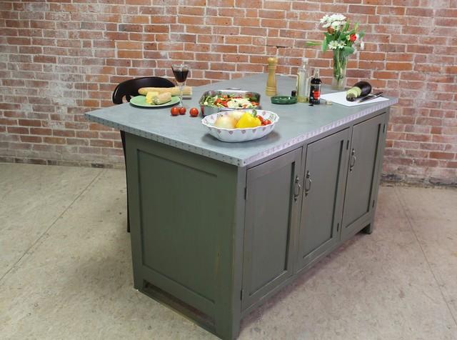 Kitchen Island With Zinc Top Modern Kitchen Islands And Kitchen Carts Boston By
