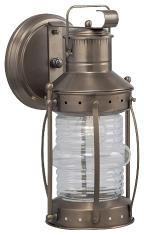Norwell Lighting 1105 1 Light Outdoor Wall Sconce from the Seafarer Collection traditional-outdoor-lighting