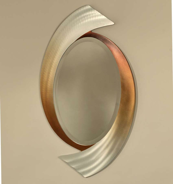swerve designer wall mirror by nova lighting modern makeup mirrors