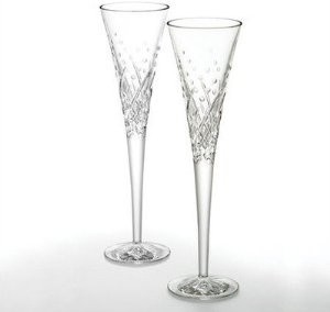 Waterford Wishes Toasting Flutes Happy Celebrations Pair traditional-everyday-glasses