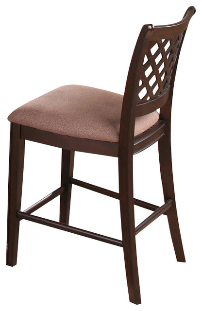 Canterbury Bali Counter Height Chair in Espresso (Set of 2) traditional-dining-chairs