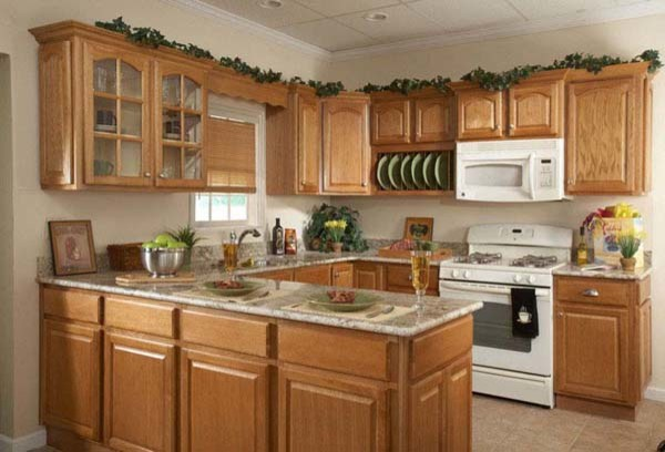Country oak rta kitchen cabinets in stock all wood for Cheap wood kitchen cabinets