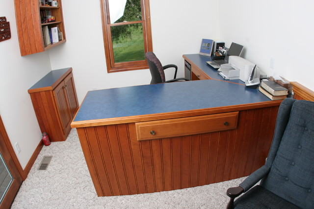 Custom Cherry Home Office traditional-home-office