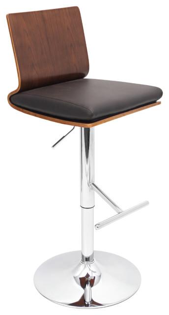 Koko Bar Stool - WALNUT/BROWN contemporary-bar-stools-and-counter-stools