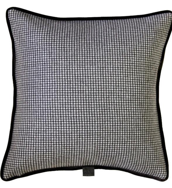 Brown Check Throw Pillows : Sartorial Home Pillow - Brown & Cream Check, Brown, 17