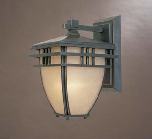 Dayton Aged Bronze Patina One-Light Outdoor Wall Mounted Light traditional-outdoor-lighting