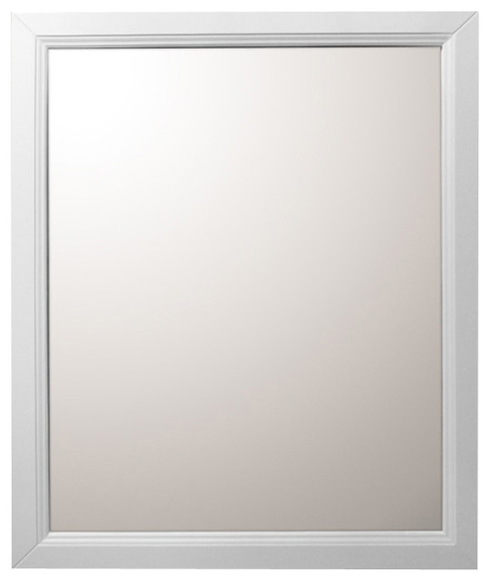 30 Inch Mirror White Modern Bathroom Mirrors By Corbel Universe