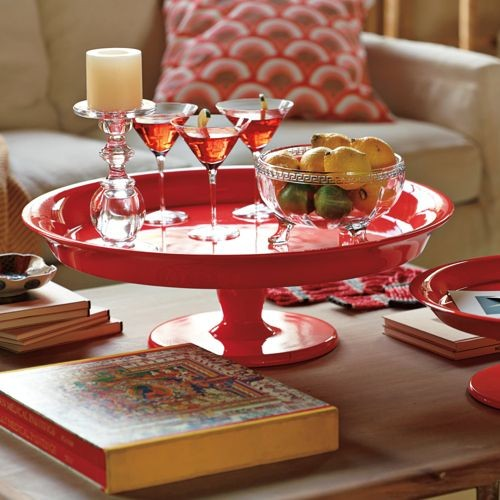 Flame Pedestal Tray traditional serveware