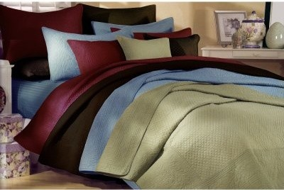 Greenland Home Fashions Josephine - 2 Piece Quilt Set - Burgundy modern-quilts-and-quilt-sets