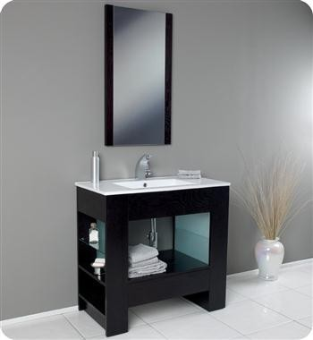 36 x 18 Modern Bathroom Vanity FVN3005WG  Modern  Bathroom Vanities
