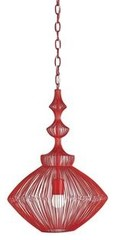 Currey & Company Parker Pendant in Lollipop Red in All Brands, Currey & Company,