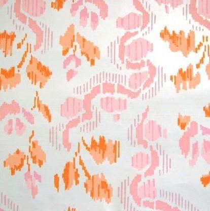 Pink and Orange Ikat Vintage Wallpaper by Element Style modern-wallpaper