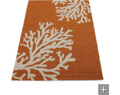 Coral Area Rug traditional-rugs