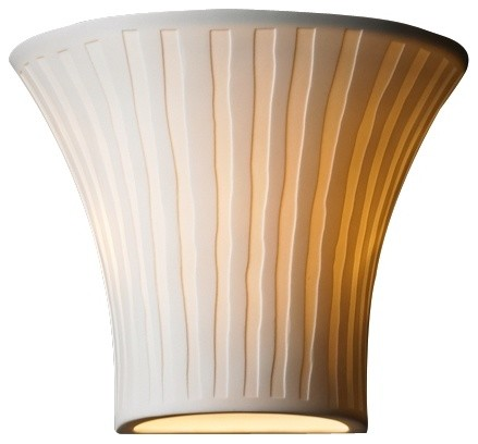 """Contemporary Limoges Collection Flared Waterfall 6 3/4"""" High Wall Sconce contemporary-wall-lighting"""