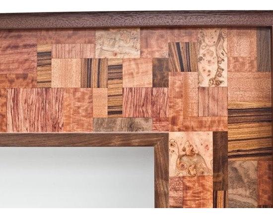 "Walnut Fireplace Mantel ""Mosaic"" design series -"